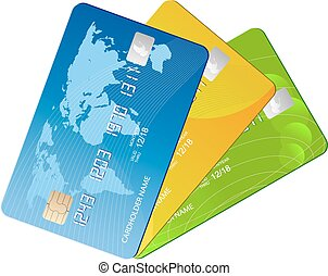 credit cards - isolated credit cards
