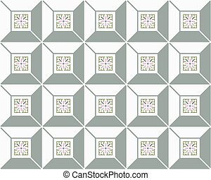 Cubic seamless pattern tiles