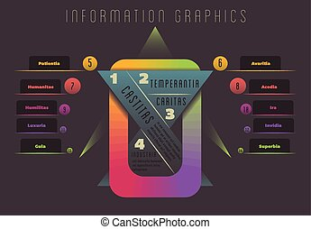 Information Graphics - Abstract colourful geometrical...