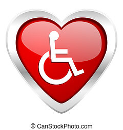 wheelchair valentine icon