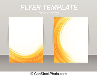 Abstract flyer template design - Abstract flyer template...