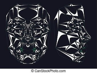 Glass robot face