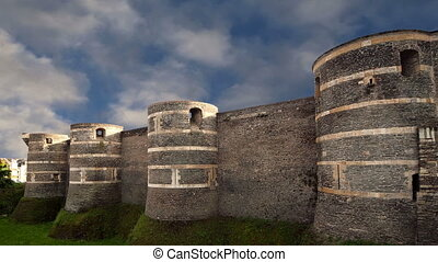 Angers Castle, France - Exterior of Angers Castle, Angers...