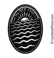 Sea Shell - Badge concept:The Sea Shell