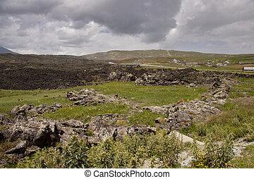 Turkey - vulcanic rocks near Dogubayazit - Field of vulcanic...