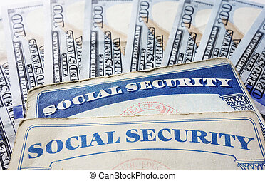 Social Security cards and hundred dollar bills...