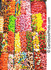 Candy at the Boqueria market in Barcelona
