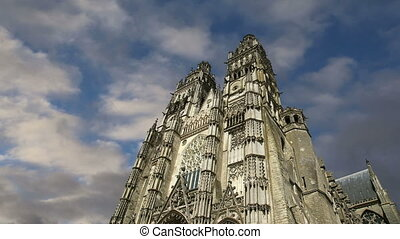 cathedral of Saint Gatien, Tours - Gothic cathedral of Saint...