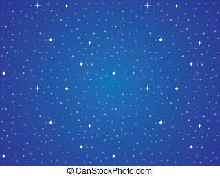 Blue sky with stars background