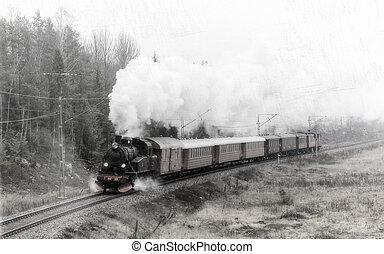 The Steamtrain S1 going in full steam with filters applied -...