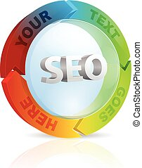 Seo Circle - Seo concept circle made of arrows