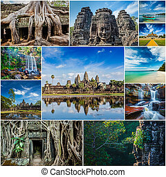 Collage of Cambodia travel images