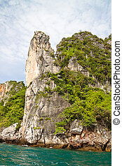 Phi Phi Rocks - Beautiful coastline of Phi Phi Island in...