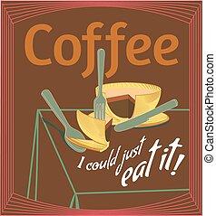 Coffee Quote and Original Metaphoric Illustration