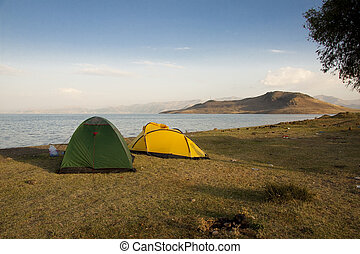 Two tent on the Van lake - Two tent on the coast of Van lake...