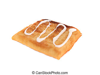 flaky pastry - Flaky pastry strudel with sweet frosting...