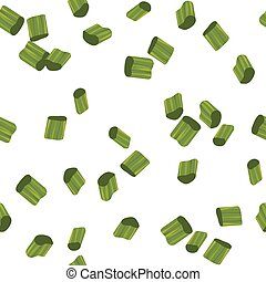Chives Pieces Seamless Pattern