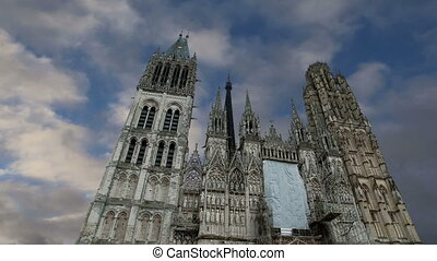 cathedral in Rouen, France - Roman Catholic Gothic cathedral...