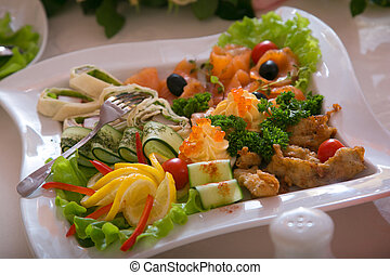 choice of snacks - Dish with a choice of snack from seafood...