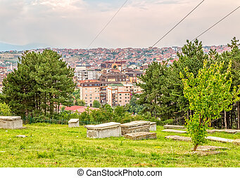 Jewish cemetery in Pristina - Old Jewish cemetery on a hill...