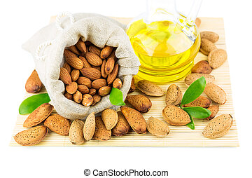 Almonds in the sack and almond oil - Almonds in the sack,...