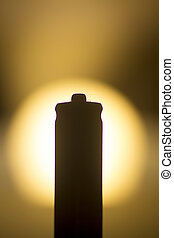 AAA Battery silhouette photo