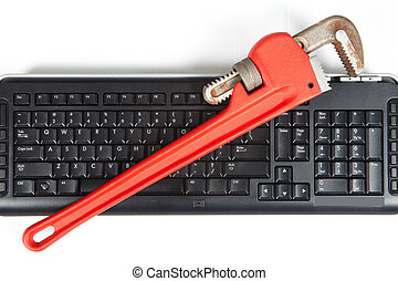 Adjustable wrench and keyboard
