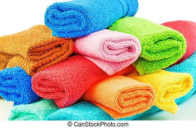 Colorful towels - Macro view of colorful towels