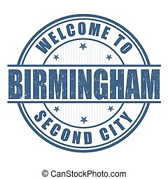 Welcome to Birmingham stamp - Welcome to Birmingham, Second...