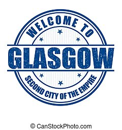 Welcome to Glasgow stamp - Welcome to Glasgow , Second City...