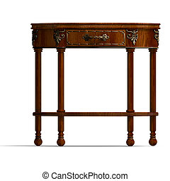 historic coffee table of louis XV - 3D rendering of a...
