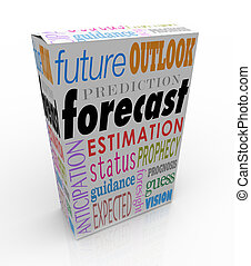 Forecast Outlook Prediction Words 3d Box Future Prognosis -...