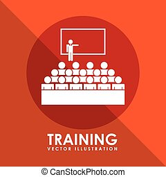 training icon design, vector illustration eps10 graphic