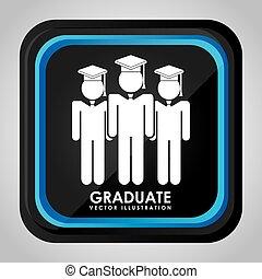 graduado, icono