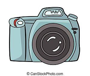 blue camera dslr camera