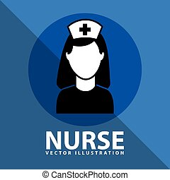 nurse icon design, vector illustration eps10 graphic