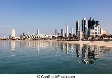 Skyline of Kuwait City, Middle East
