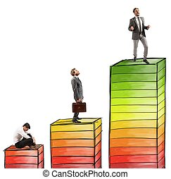 Levels of career and success in work