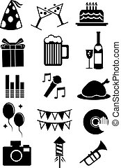 Celebration Party Icon on White Background - Vector...