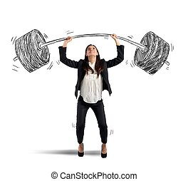 Strong businesswoman - The strength of a businesswoman at...