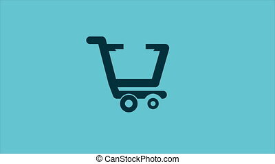 Shopping cart, Video Animation, HD 1080