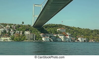 Istanbul Second bridge - Cruise under the Fatih Sultan...