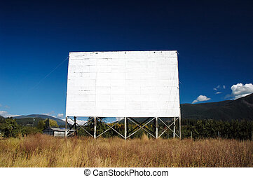 Abandoned Drive-In Theatre - The big screen at an abandoned...