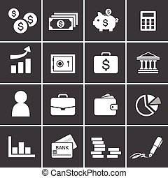 213-2Money, finance, banking icons - Money, finance, banking...