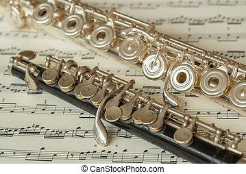 flautín, flauta