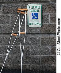 handicapé, stationnement