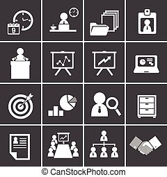 228-2organization and business management icon set -...