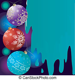 Abstract christmas background with bells (vector)