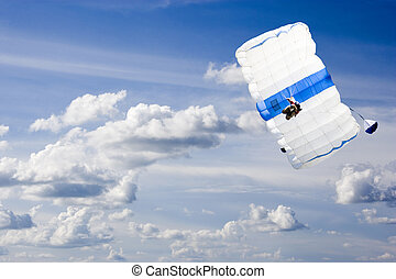 Base Jumping - Image of a daring base jumper in action.