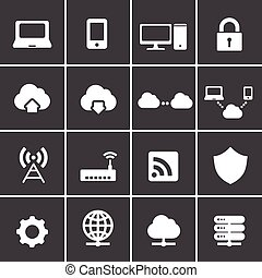 296-2Network and cloud computing icons - Network and cloud...